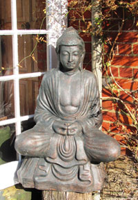 Buddha statue outside Otterbourne House